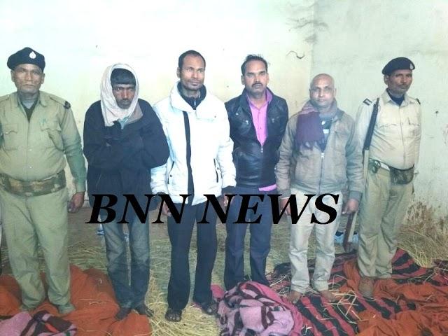 उत्पाद पुलिस पर पियक्कड़ों ने किया हमला, चार गिरफ्तार