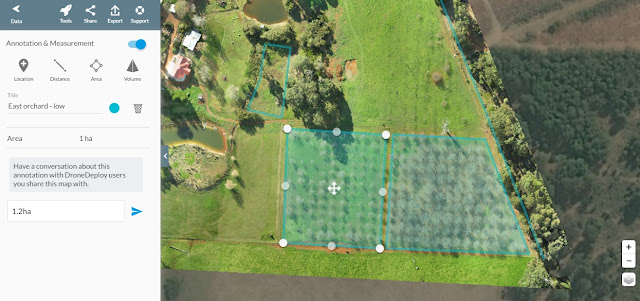 Chestnut Brae Drone scan Small farm planning map using Drone Deploy - Image 6