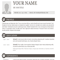 resume template 9 click to download - Free Copy And Paste Resume Templates