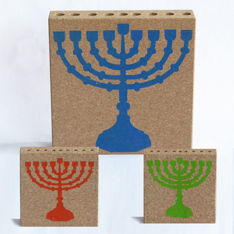 Cork Menorahs by Daniel Michalik