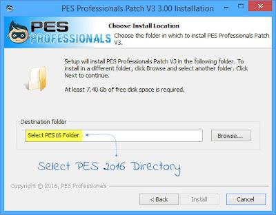 Patch PES 2016 Terbaru dari PES Professionals V3 AIO