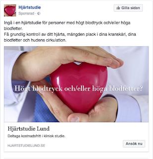 Facebook annons inriktad  målgrupp