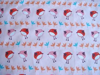 Látka bavlnena s motívom vtáčikov ružová