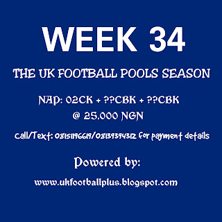 Week 34 draw football pools bankers on coupon by ukfootballplus
