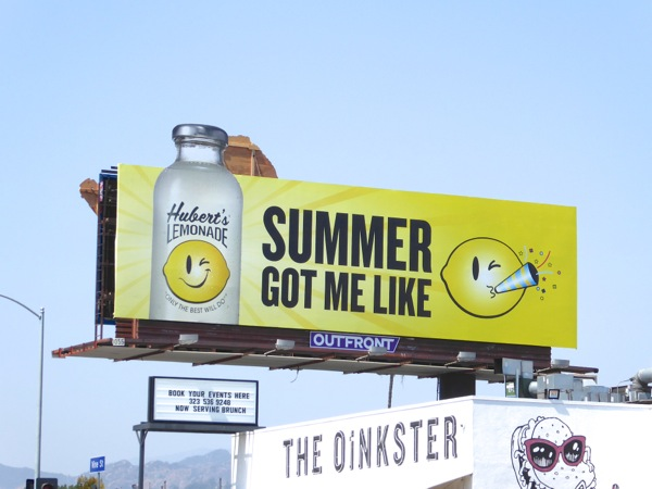 Huberts Lemonade Summer got me like billboard