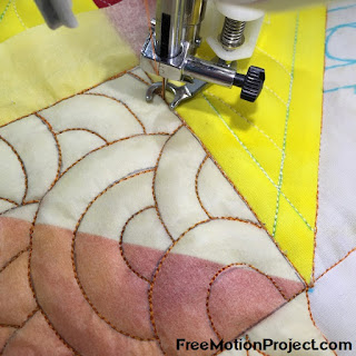 Cabin Fever free motion quilting