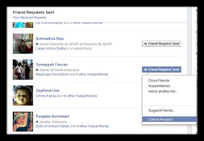 Cara Membatalkan Permintaan Pertemanan Di Facebook