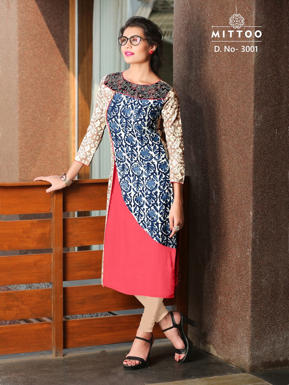 Mittoo-Pihoo-New Arrival Designer Cotton Dhabu Multiprint Kurti