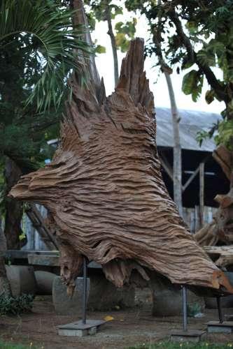 abstract wooden sculptures