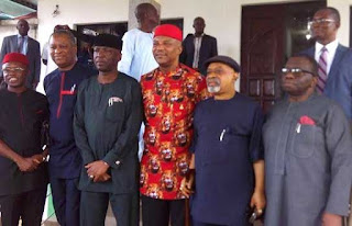 Photos: Chris Ngige leads Federal government delegation to visit Anambra State over Ozubulu attack