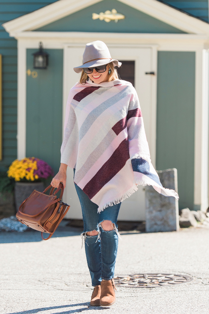 Talbots Block Stripe Blanket Wrap
