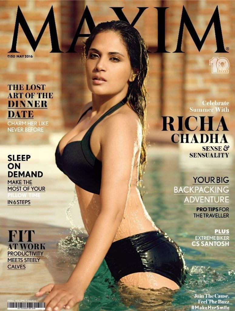 Richa Chadha Maxim Magazine May 2016 - HQ PICS- TOO HOT!