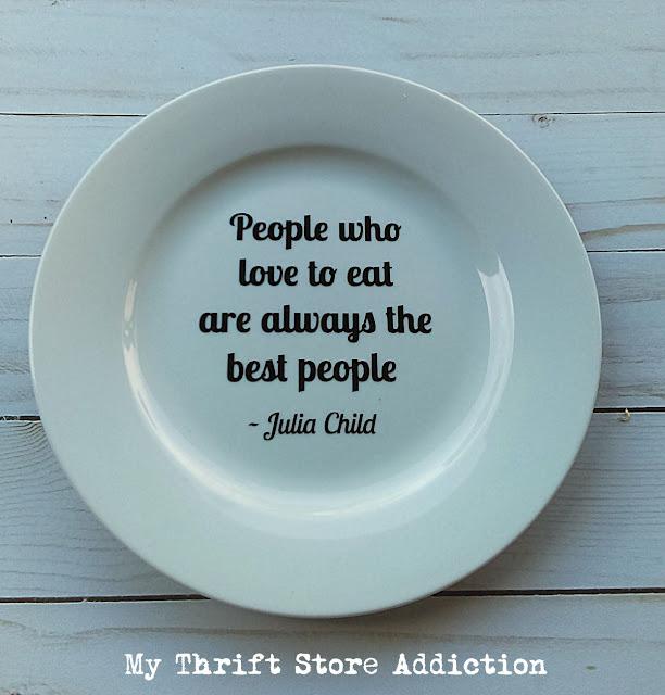 Julia Child plate