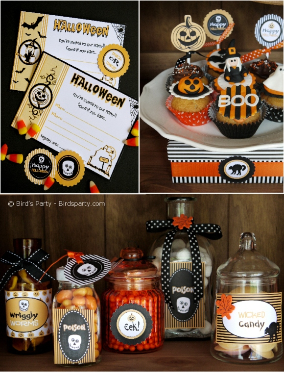 Halloween Party Ideas | A Cute Witch's Potion Cupboard - BirdsParty.com