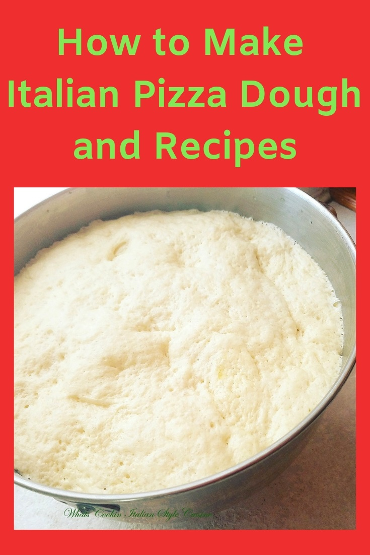 this is how to make Italian pizza dough and its been rising in a stainless steal mixing bowl. A heavy duty dough hook was used to make this dough.