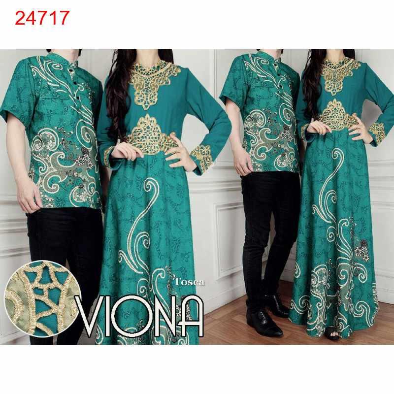 Jual Batik Gamis Couple Viona Tosca - 24717