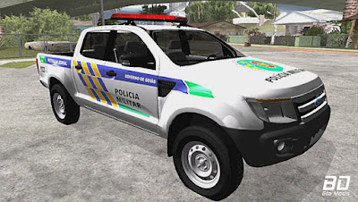 Download  mod carro FORD RANGER 2014 DA PATRULHA RURAL DE GOIÁS para GTA San Andreas , GTA SA jogo PC