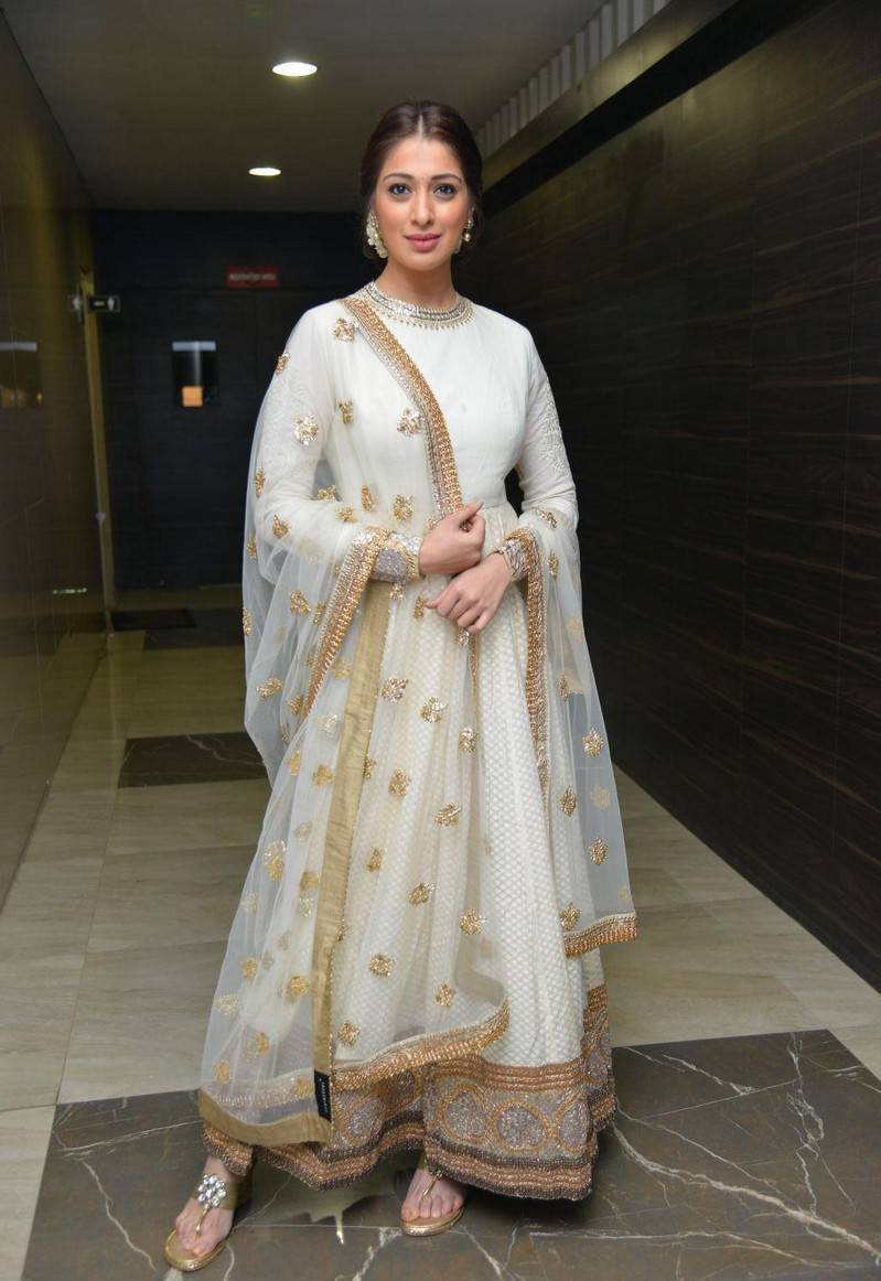 Malayalam Hot Girl Raai Lakshmi In White Dress At Movie Audio Launch