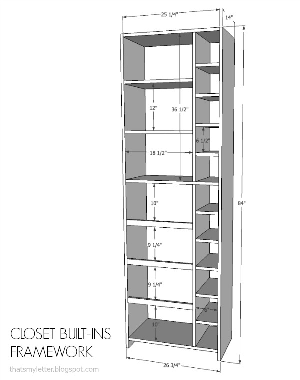 Closet Built Ins Free Plans