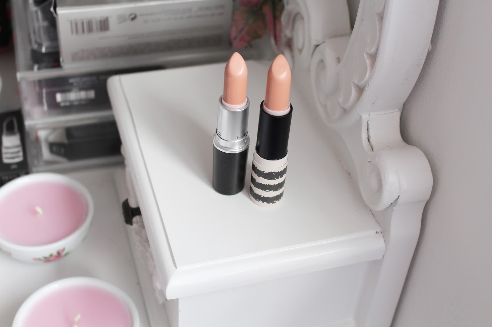 Topshop Nevada Lipstick and MAC Myth Lipstick