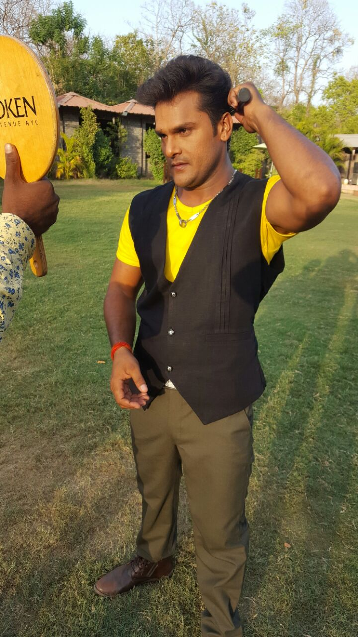 ON Set of Jwala Bhojpuri Film Shooting photo