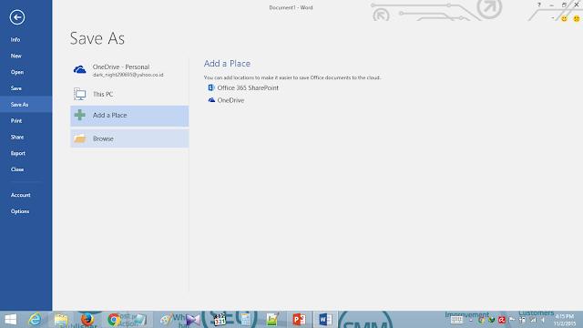 Cara mudah mengakses folder Dropbox dari menu Save As untuk pin pada Office sebagai lokasi