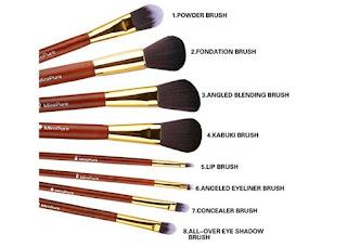 8piece miropure professional makeup brush set 4  free