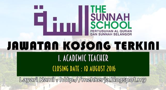 Jawatan Kosong Terkini 2016 di Pertubuhan Al Quran Dan Sunnah Selangor