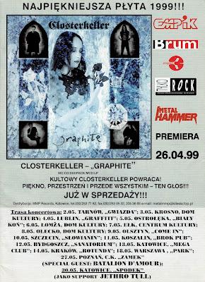 "Closterkeller - ""Graphite"" - reklama Metal Hammer 5/1999"