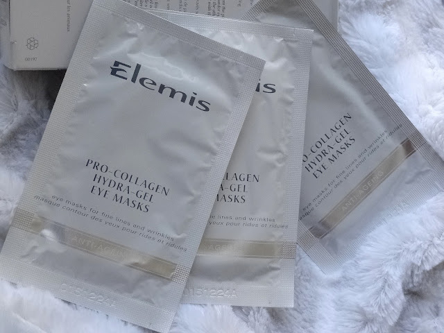 Elemis Exotic Cream Moisturizing Mask and the Pro Collagen Hydra Gel Eye Mask