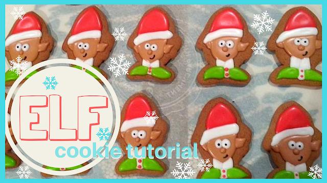 Easy fun Christmas Elf Cookie video tutorial