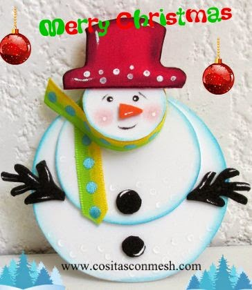 manualidades-navideñas-muñeco-nieve