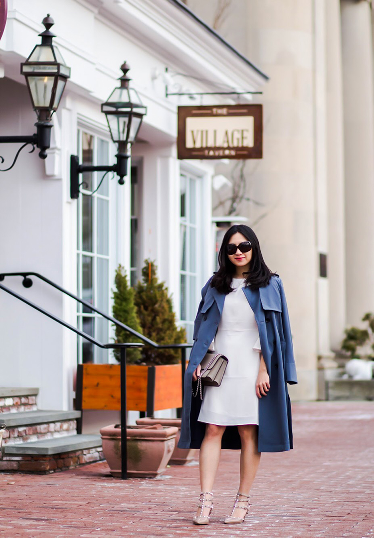 Ruffle Sleeve Dress Soft Pleated Trench Elle Blogs