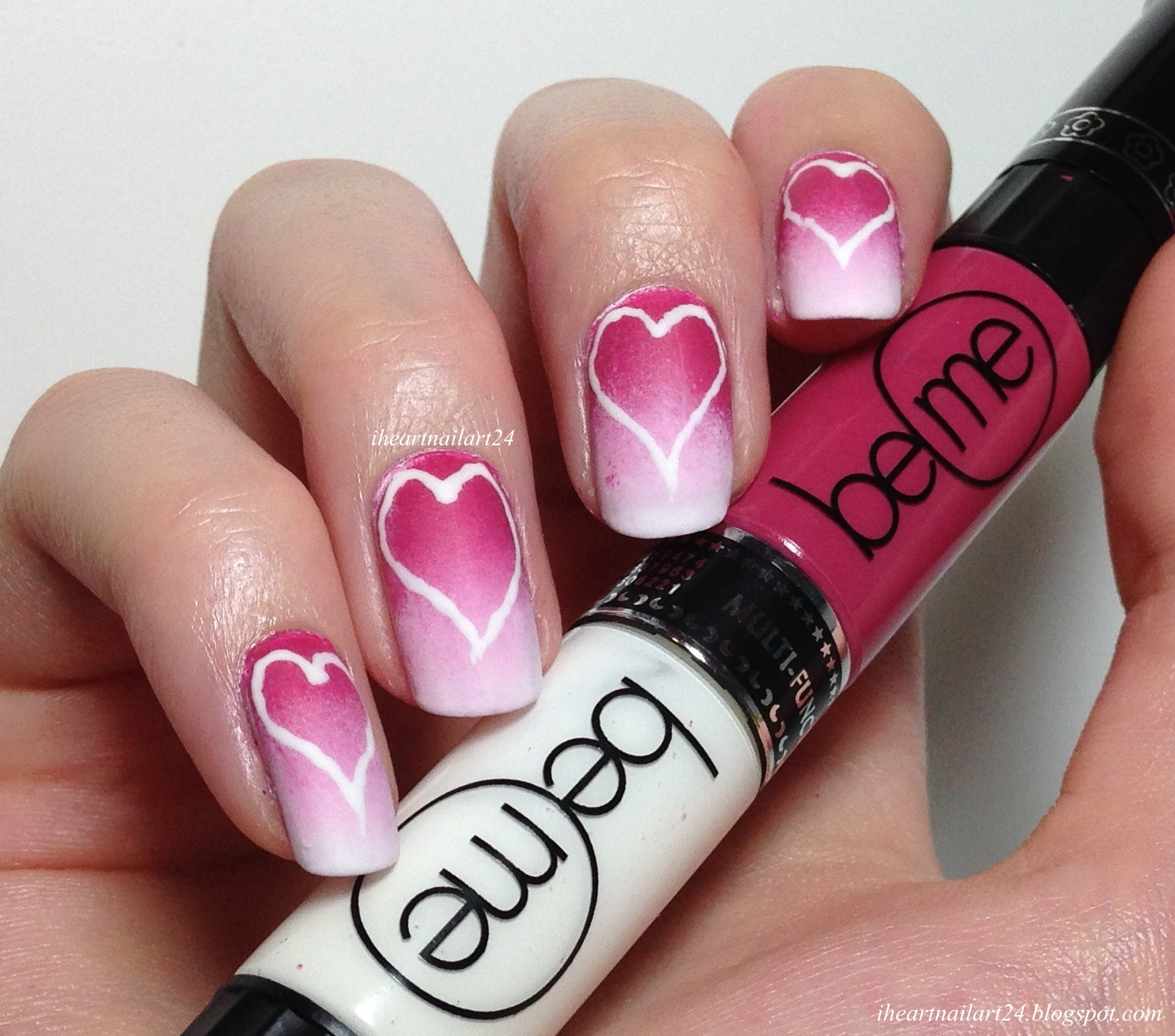 Valentine\'s Day Nail Art with BeMe Nail Art Pens | I Heart Nail Art