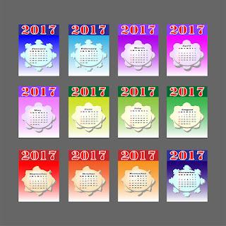 2017カレンダー無料テンプレート118