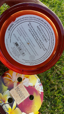 Bath and Body Works 'Mango Shores' 3 Wick Candle description - www.modenmakeup.com