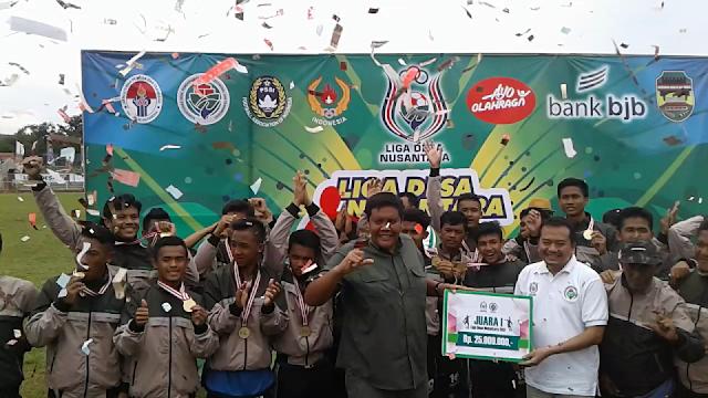 Final Liga Desa Nusantara 2017 dijuarai oleh Desa Sukarame, Tasikmalaya. Dimeriahkan oleh Duo Naga