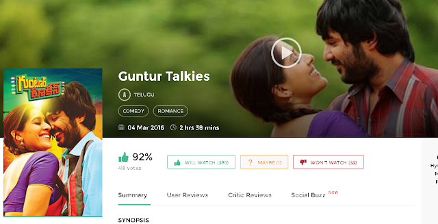 Guntur Talkies 2016 Telugu Movie 300mb and Mp4 Free