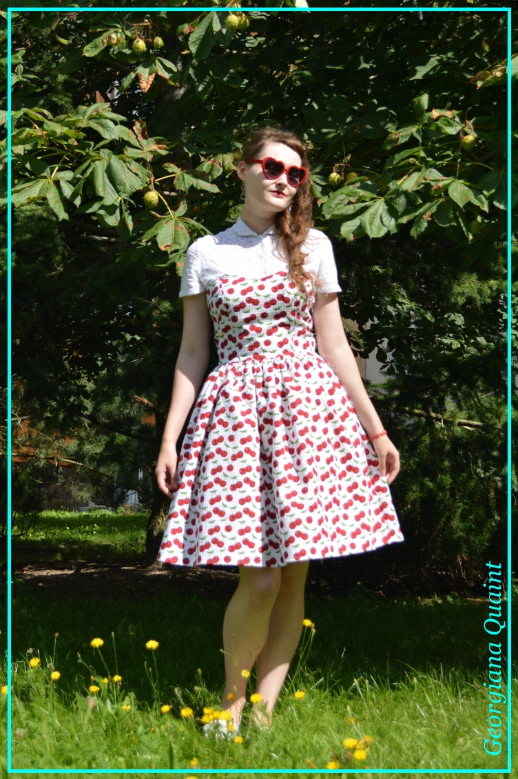 georgiana quaint, rockabilly, couture, dress, cherry, lolita, babydoll, buy, sale, shop, rococo, fashion blogger, quaintrelle, selfmade, diy, handmade, fler.cz