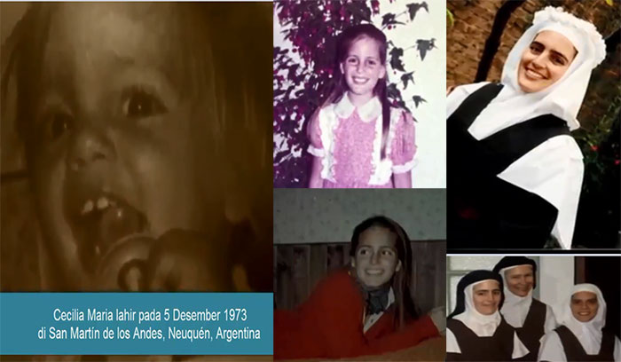 Suster Cecilia Maria biarawati di Santa Fe, Argentina.