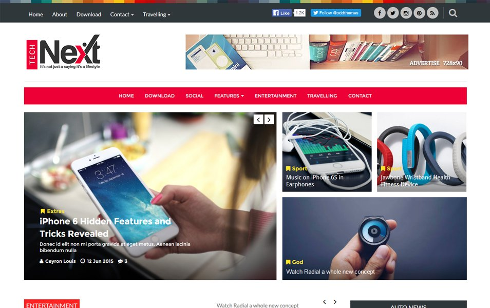 Technext Responsive Blogger Template