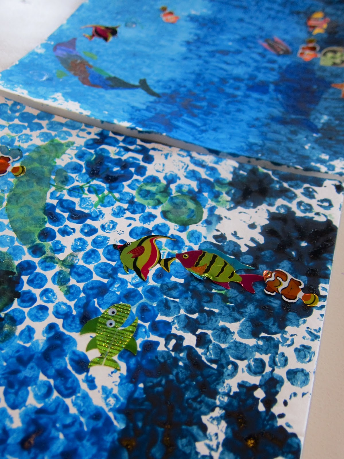 Bubble Print Ocean Layers
