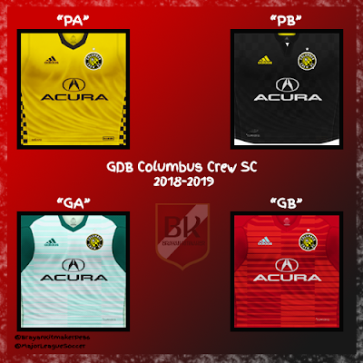PES 6 Kits Columbus Crew SC Season 2018/2019 by Brayan Kitmaker