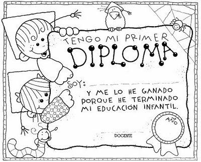 Maestra Asunción: DIPLOMAS Y CUCHITURAS PARA EGRESADOS DEL JARDÍN.