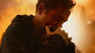 Infinity War still featuring Tony Stark on Titan
