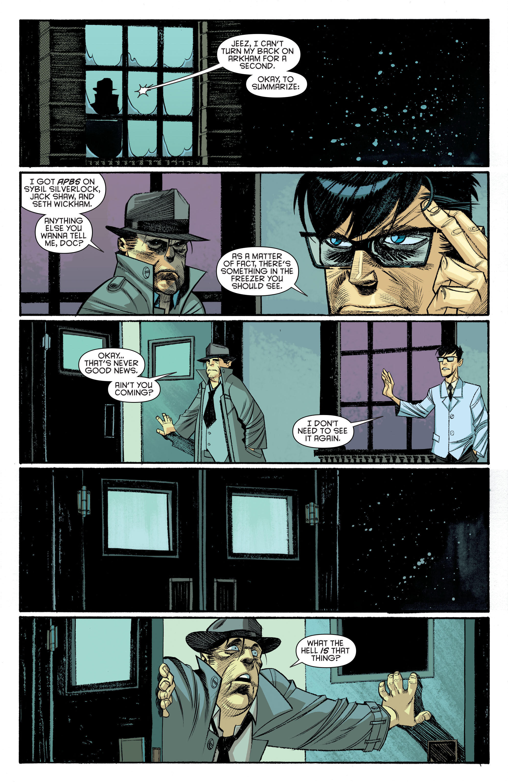 Read online Arkham Manor comic -  Issue #6 - 2