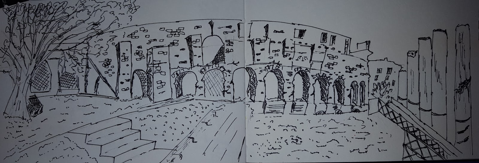 urban sketch of colossum