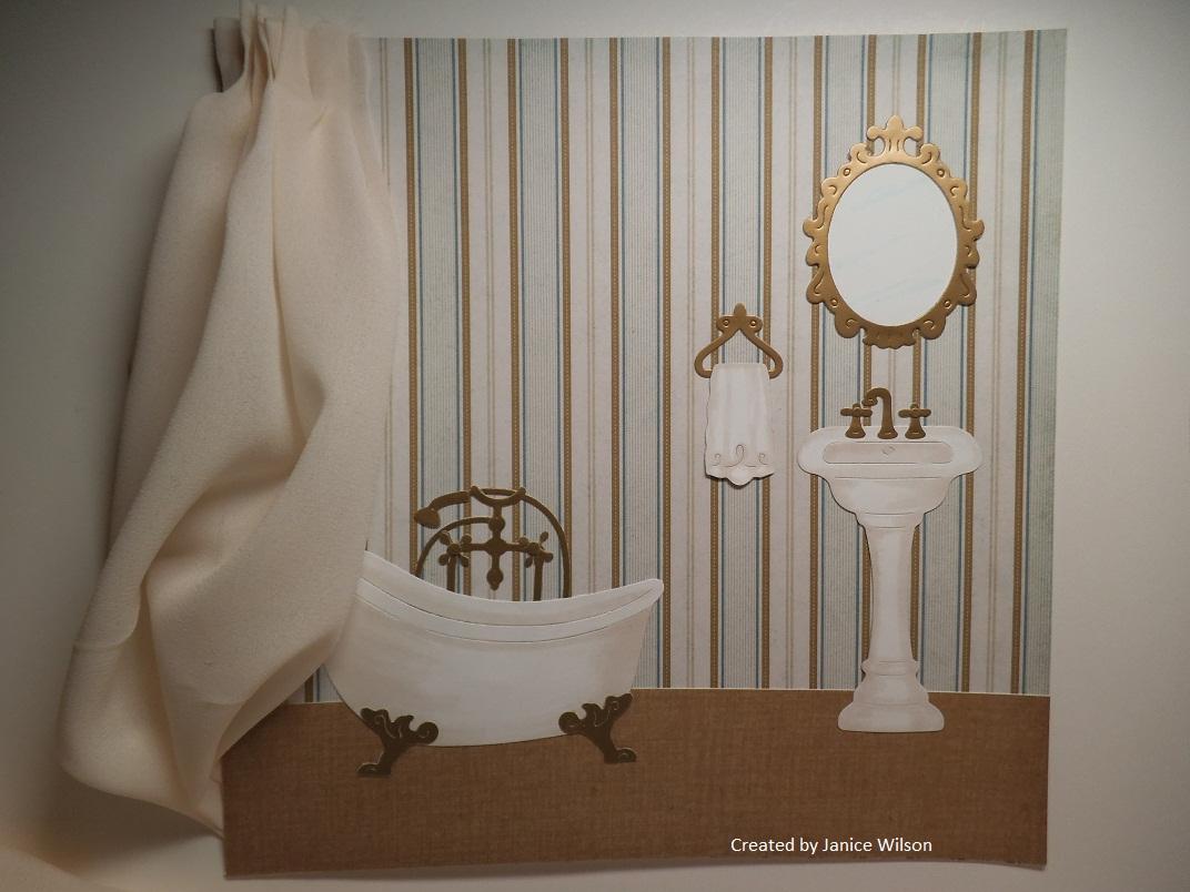 cottageblog bathroom layout or wall art Ladies Powder Room shabby chic powder room sign
