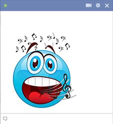 Smiley singing loud