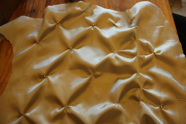 Fabric manipulation on a bodice